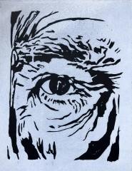 lino eye 1 - 20 x 28 cm