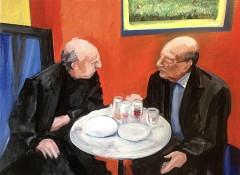 conversation - 116 x 81 cm